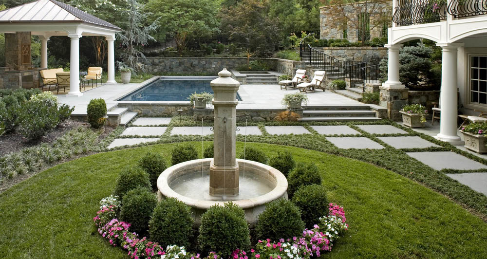 garden fountain in roman classic style - Garden Fountains