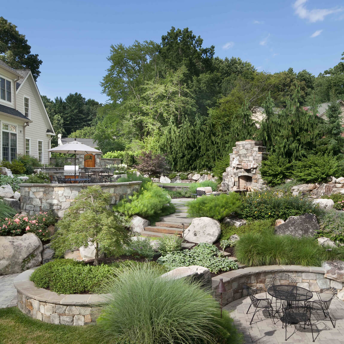 multiple techniques for landscaping with stone