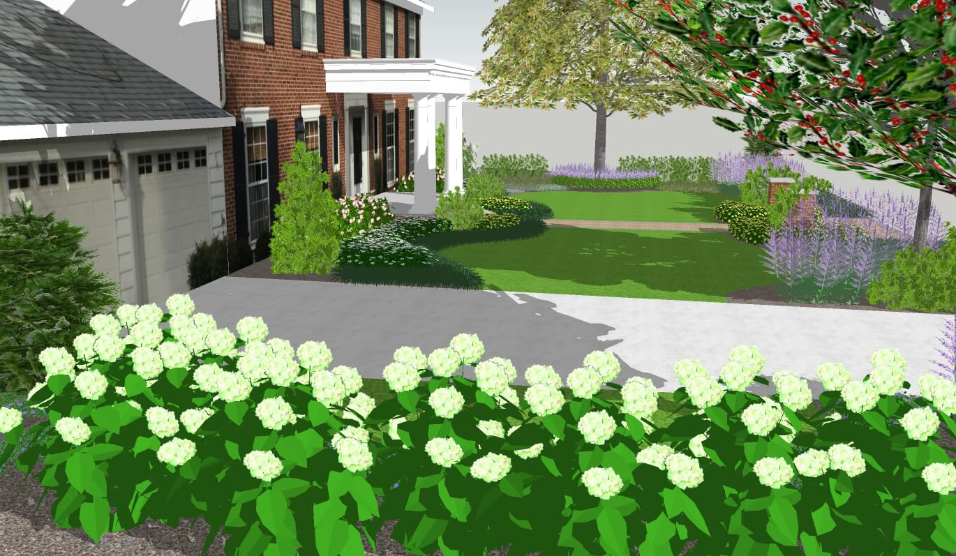 front yard landscaping concept for curb appeal