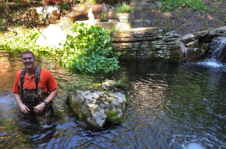 The essentials of koi pond design maintenance in for Pond cleaning fish