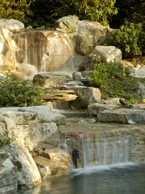 Garden Waterfalls Amp Design Styles Surrounds Landscape