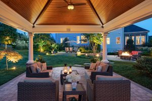 outdoor living room pavilion
