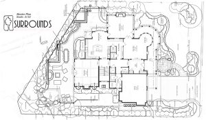 small yard landscaping site plan example 1