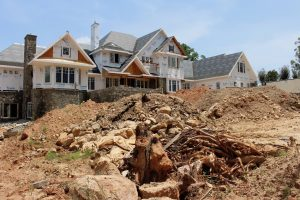 construction of front yard retaining walls and hardscape