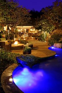 outdoor spa lighting underwater