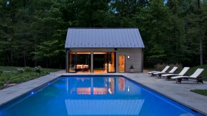 contemporary style pool house