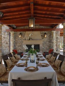 sroka dining pavilion & outdoor fireplace