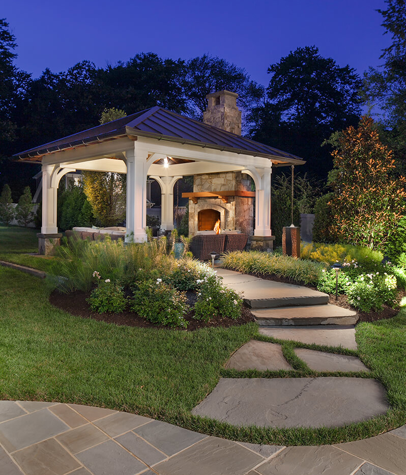 Should I Install a Patio Fire Pit or Fireplace in My ... on Fireplace In The Backyard id=41097