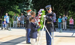 wreath laying ceremony tomb of unknown soldier