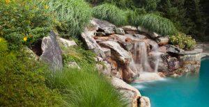 wild garden waterfall