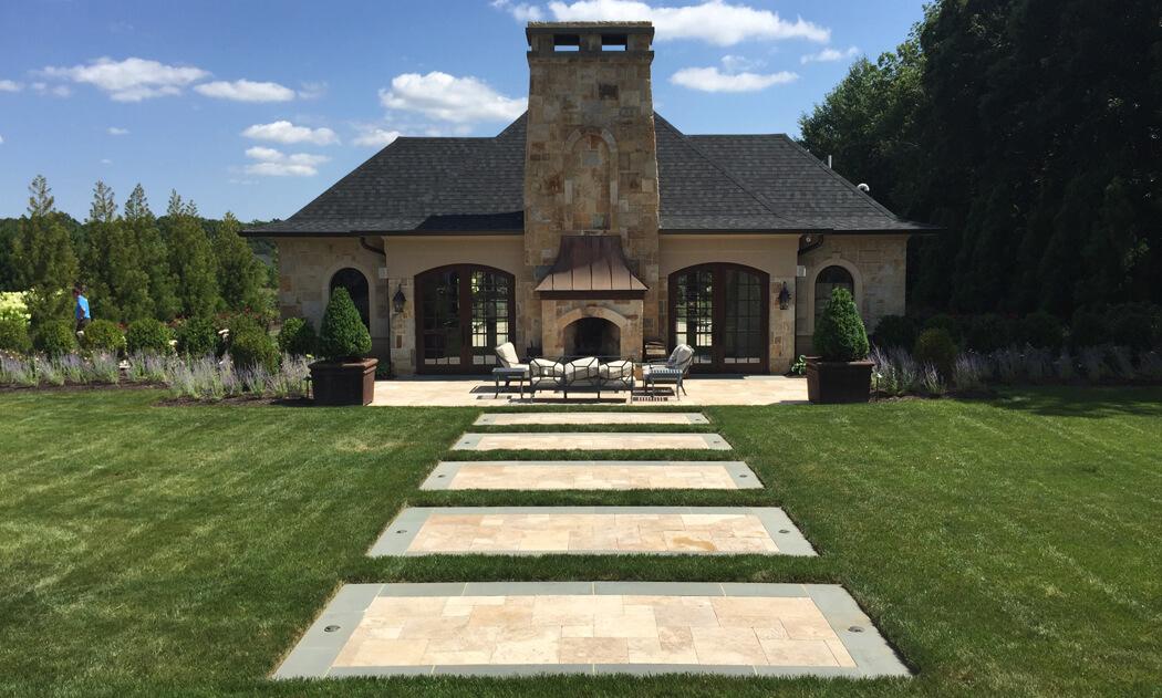 stepping stone garden walkway