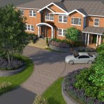 McLean landscape design for front yard approach