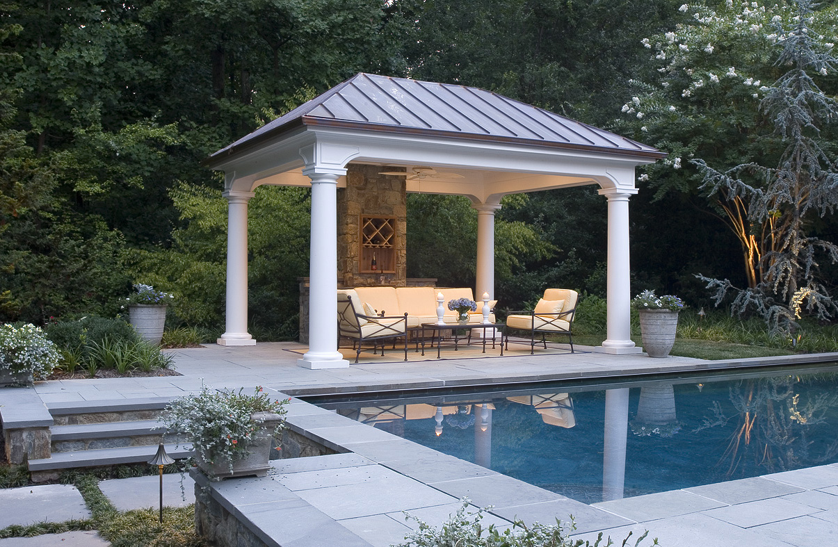 pool house for great falls va landscape design