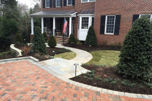 front entry walkway landscaping