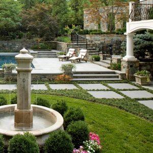 classic style garden fountain