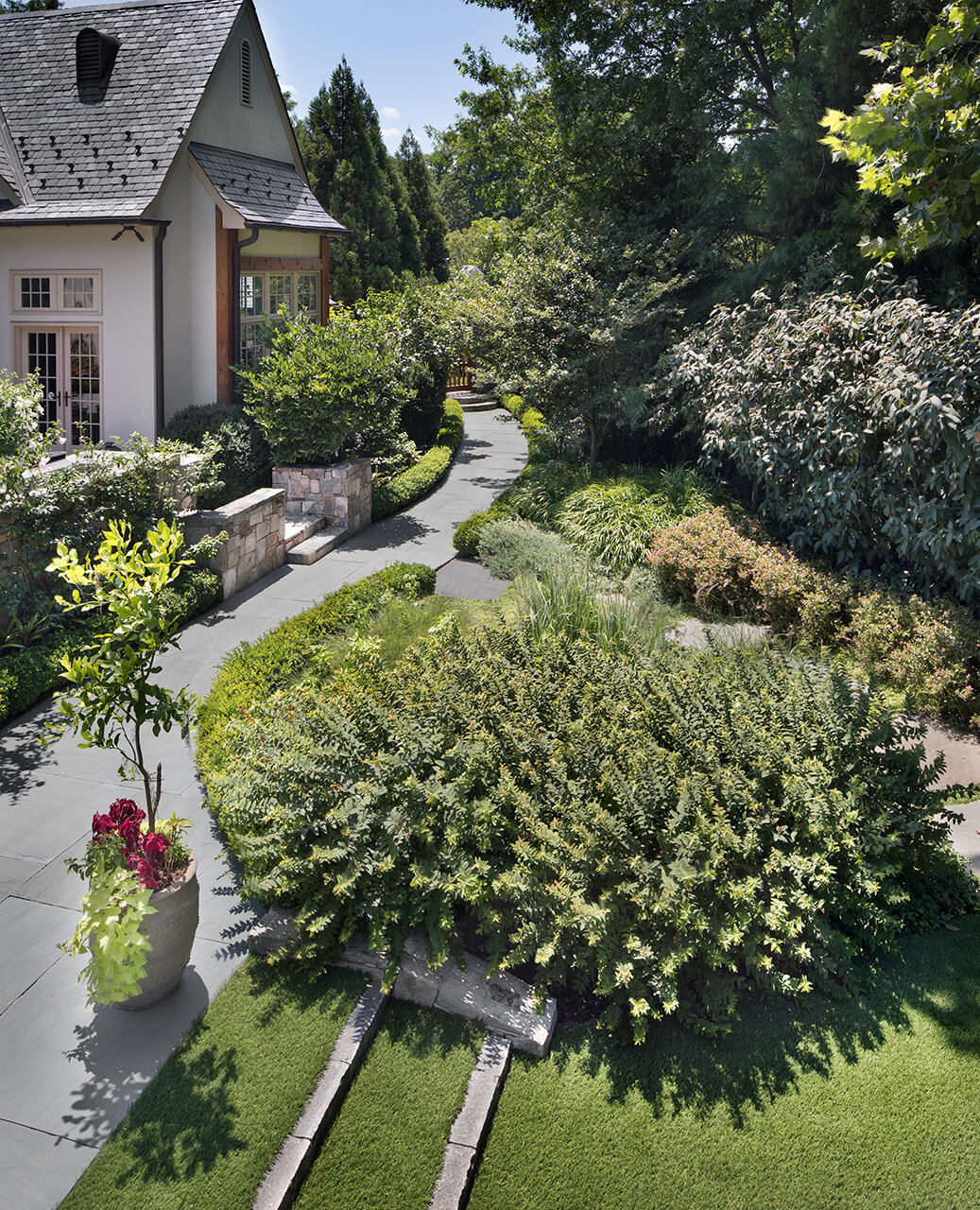 garden path bluestone patio