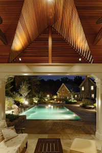 up-lighting in pool cabana