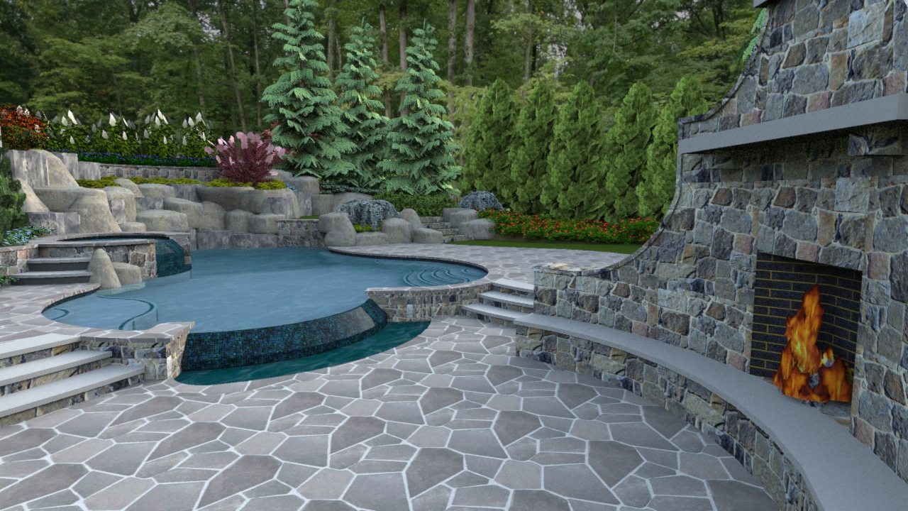 A right sized swimming pool design in herndon virginia for Pool negative edge design
