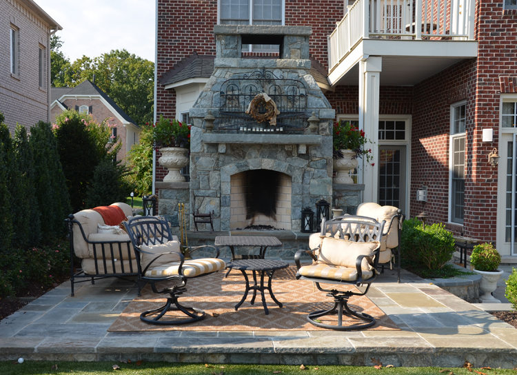Siting An Outside Fireplace Surrounds Landscape Architecture