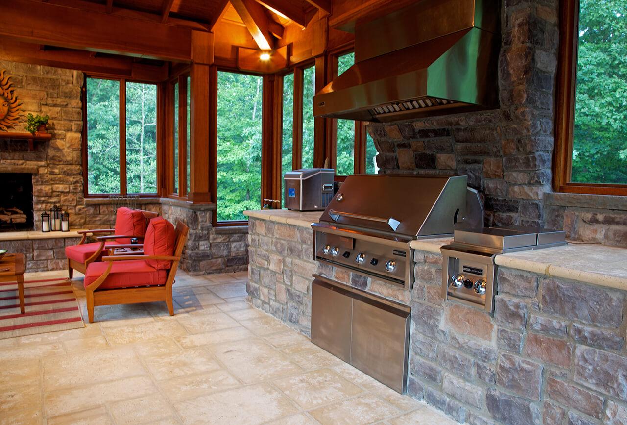 outdoor kitchen porch