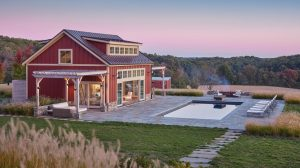 pastoral style pool house