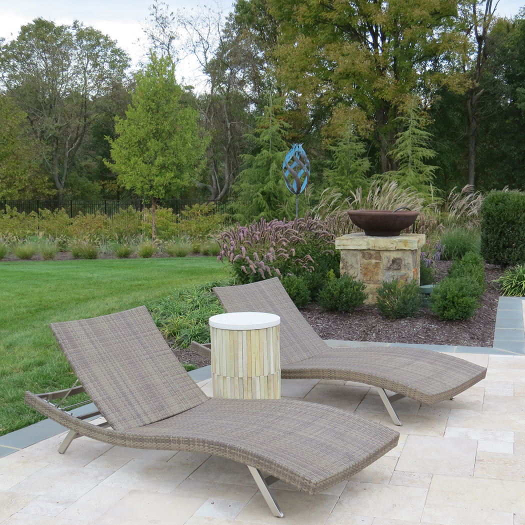 pool patio lounge set by J&L Interiors