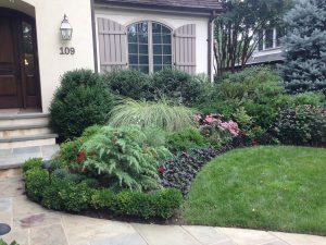front yard garden and walkway