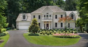 front yard landscaping in formal style