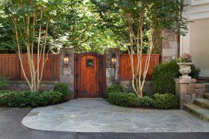 garden gate and patio