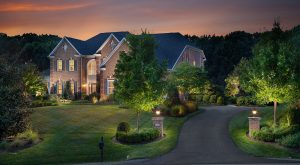 outdoor lighting a driveway entrance