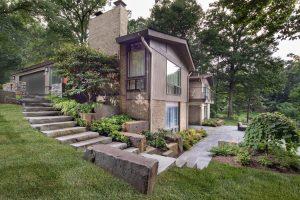 side yard after phase two landscape implementation