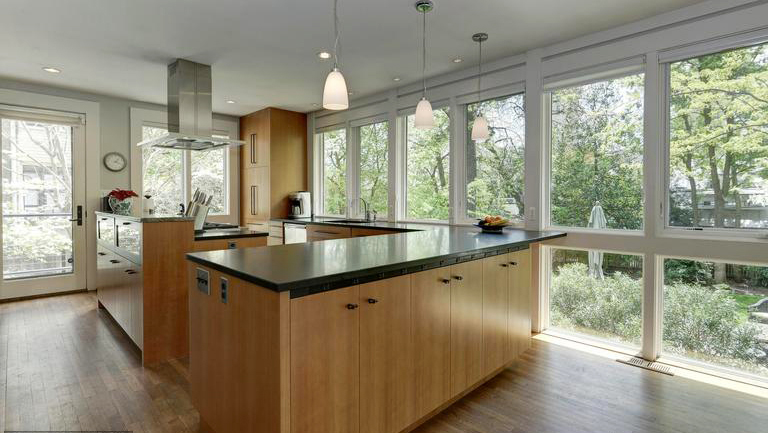 cleveland park kitchen windows frame landscaped yard