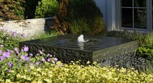 bluestone slab fountain