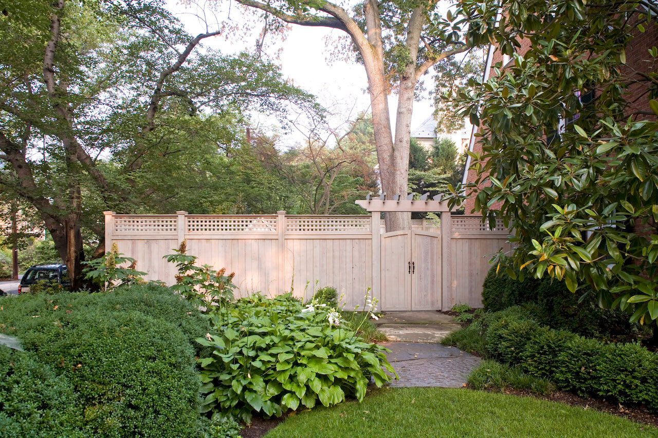 garden gate & privacy fence in Chevy Chase