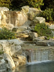 multi-cascade-waterfalls and pond