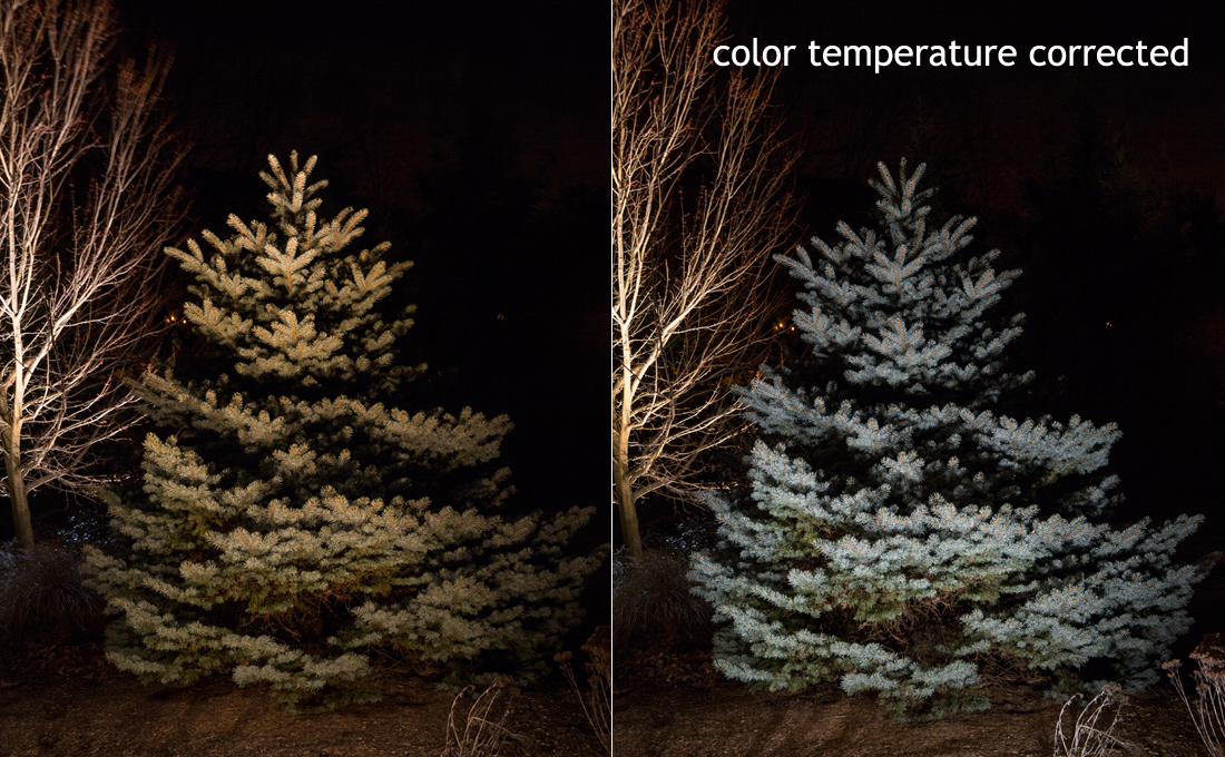 outdoor lighting effect color temperatures