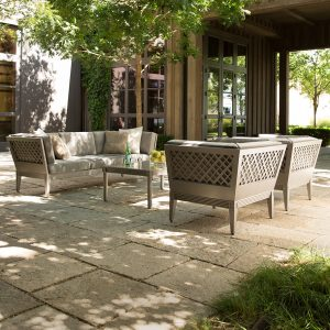 outdoor living room set by Janus et Cie
