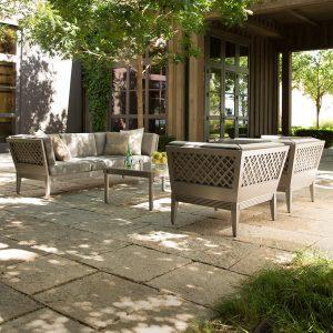 outdoor living room set by Janus et Cie