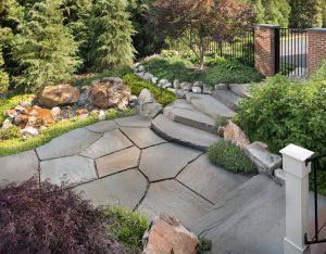 mortarless flagstone patio