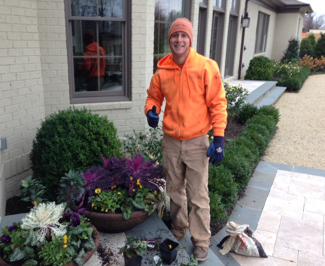 landscape maintenance foreman on site