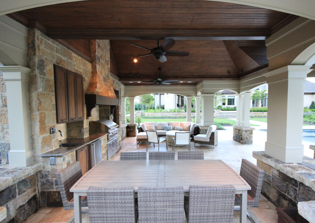 outdoor kitchen dining pavilion