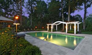 pool deck pergola design