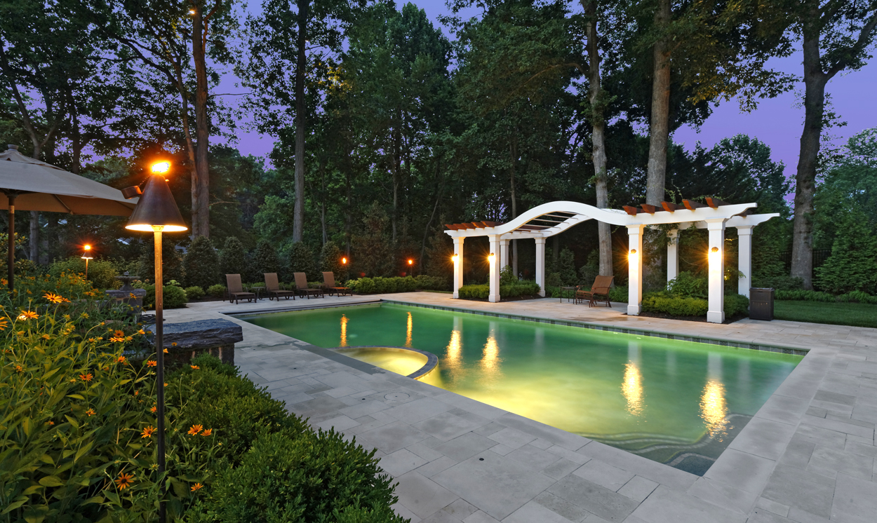 pool deck pergola design