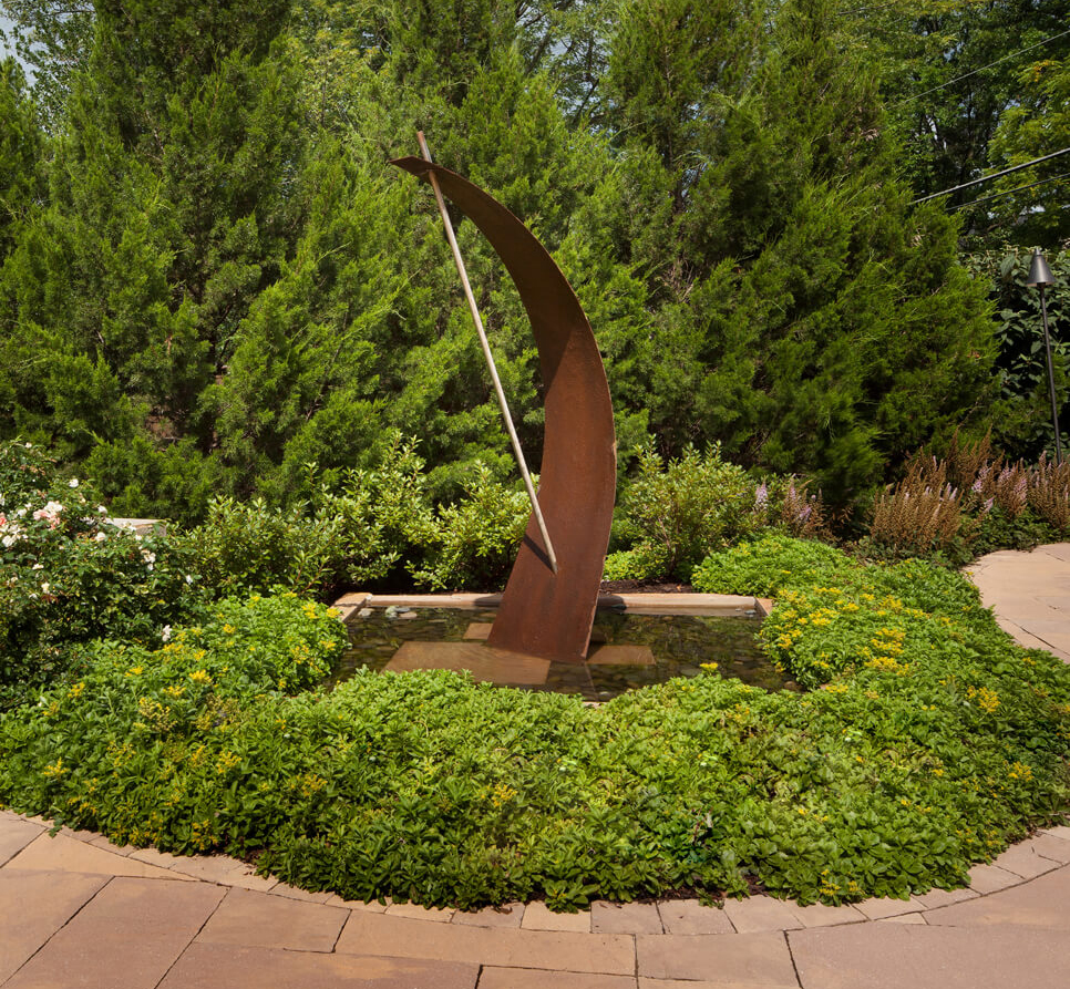 fountain sculpture of Corten steel