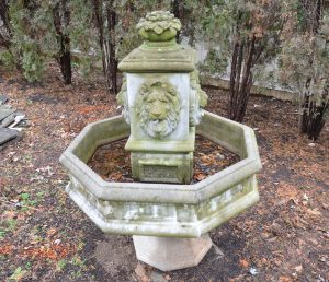 BEFORE garden fountain