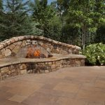 Backyard fireplace style fire pit