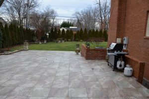 BEFORE patio view to side yard