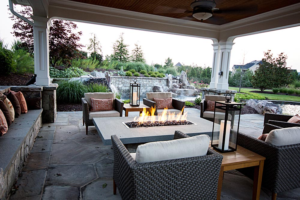 14 Open Air Gas Fire Pit Covered Pool