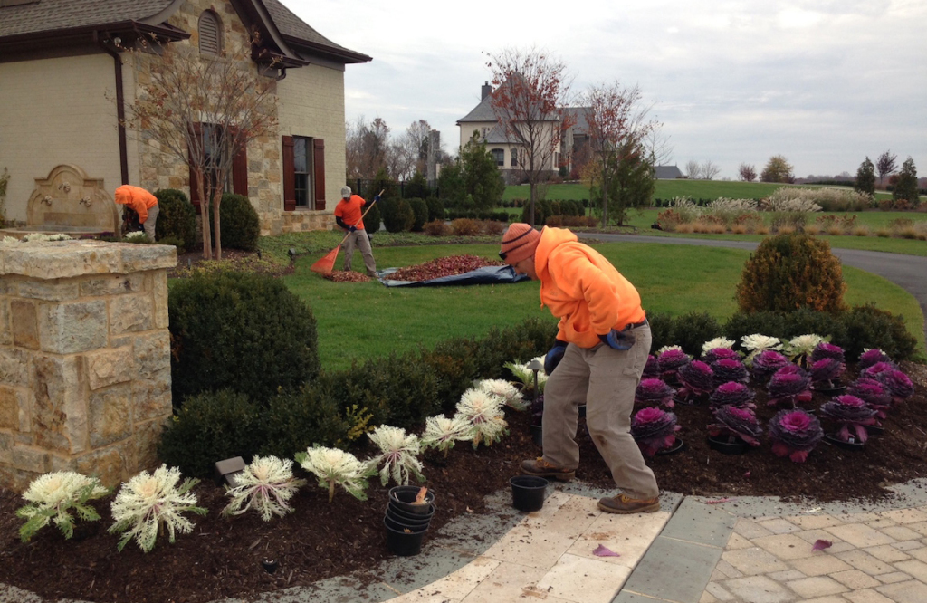 fall garden care grounds keepers on site