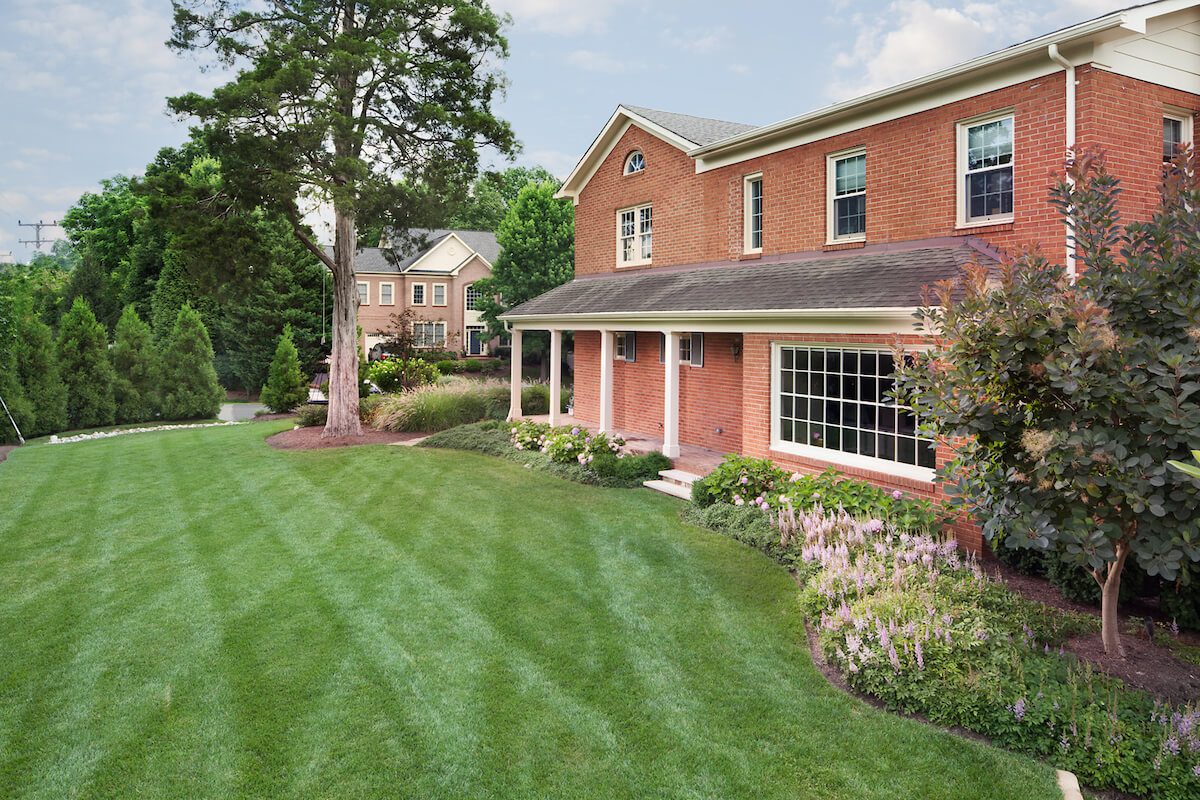 large side yard lawn